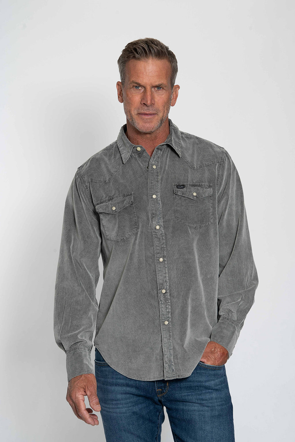 Jackson Cord Long Sleeve Western Shirt
