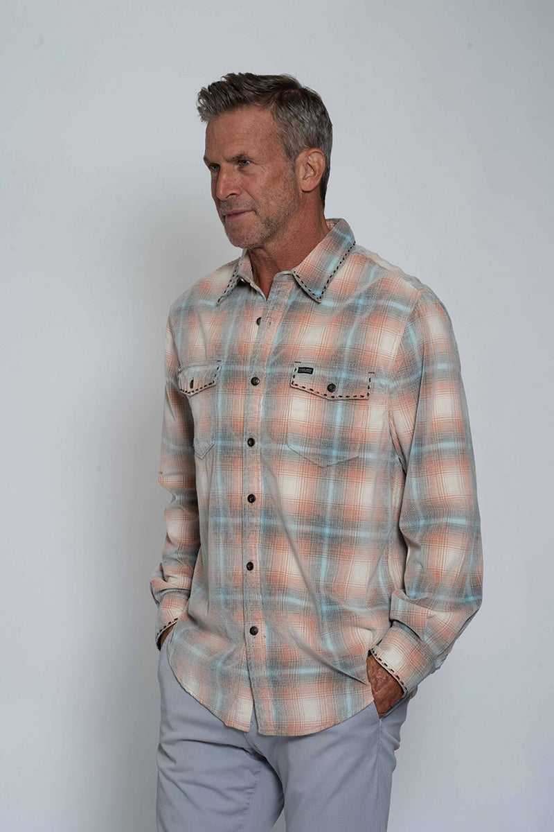 Baja Plaid Long Sleve Pocket Shirt