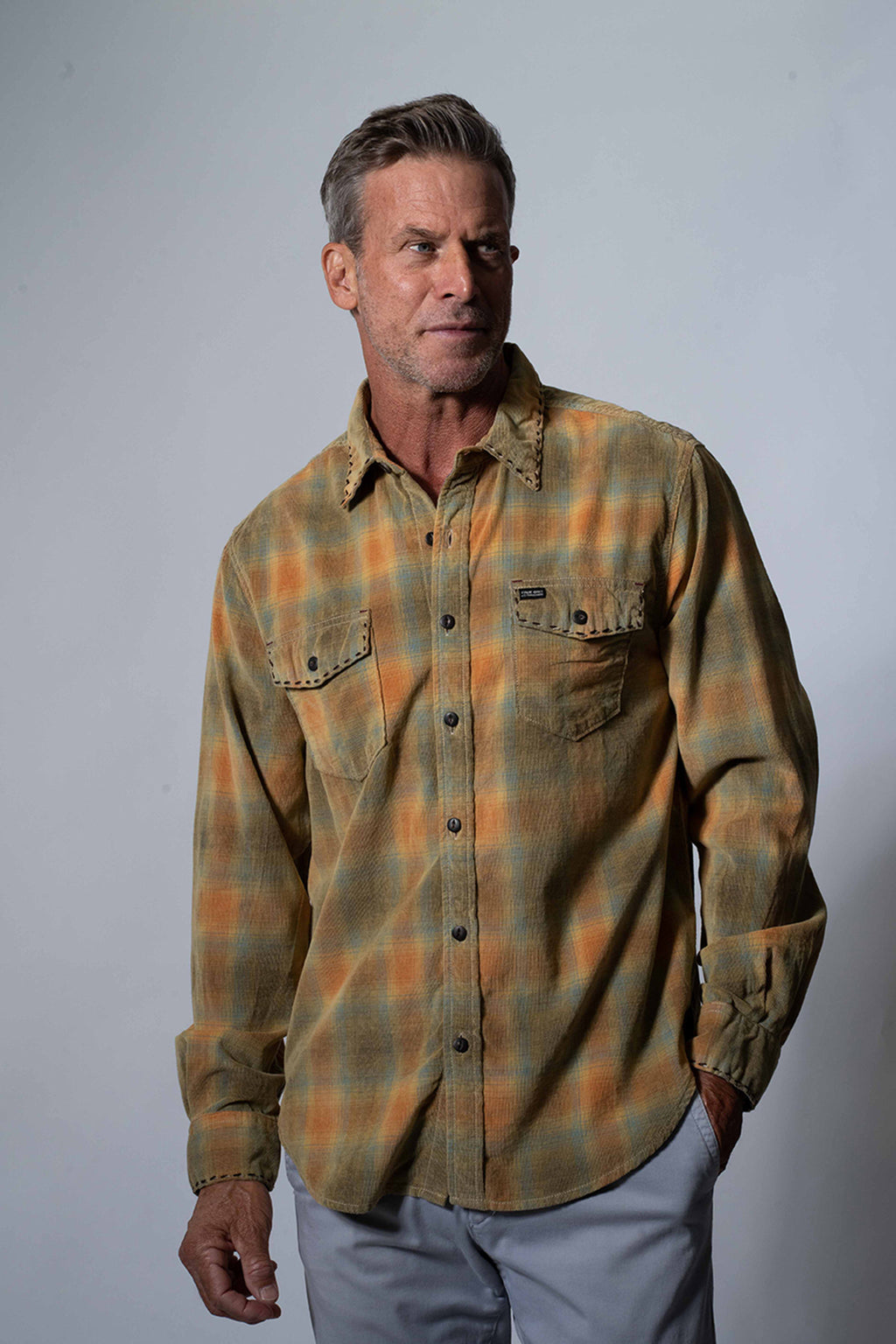 Drifter Plaid Long Sleeve Pocket Shirt