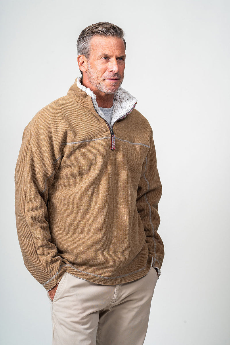 Bonded Vintage Cord 1/4 Zip Pullover