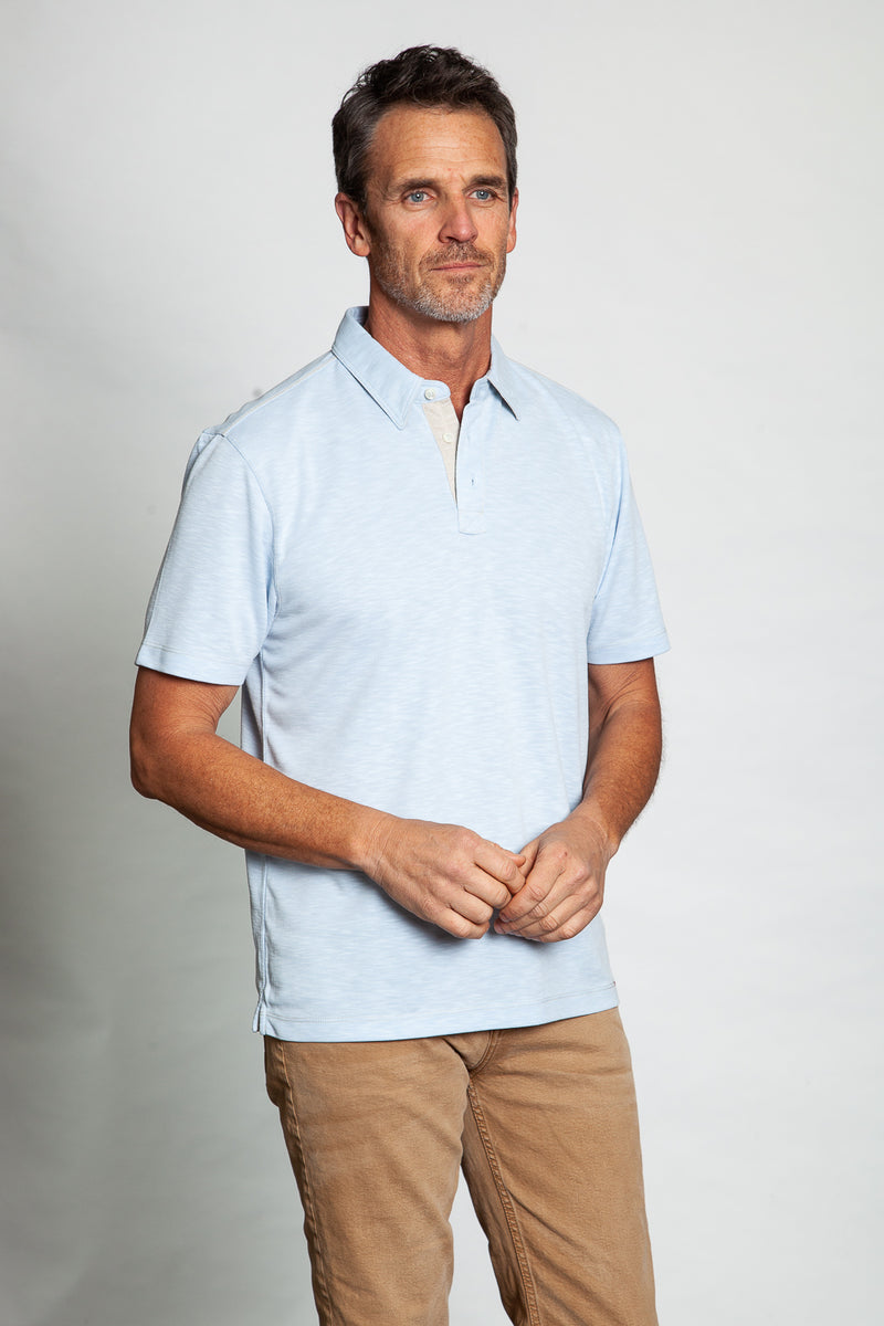 Sueded Modal Short-Sleeve Polo