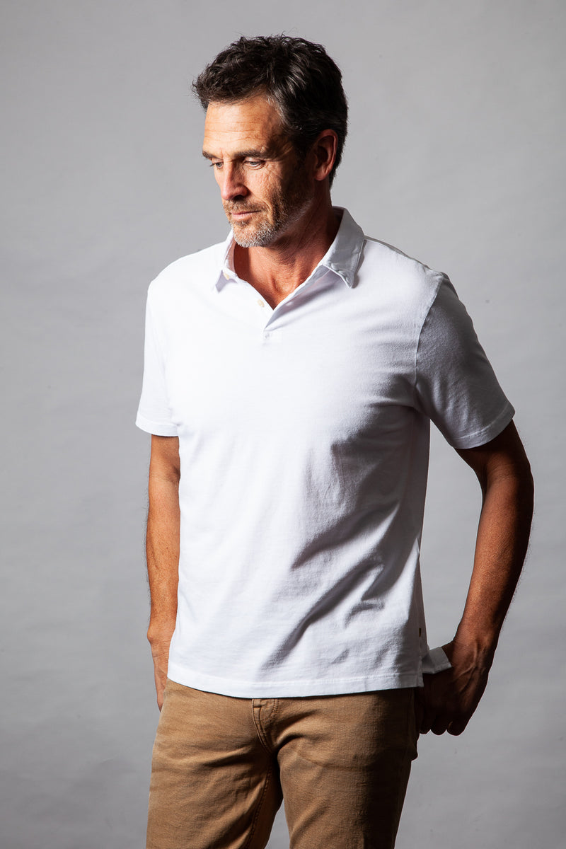 Sueded Supreme Short-Sleeve Polo