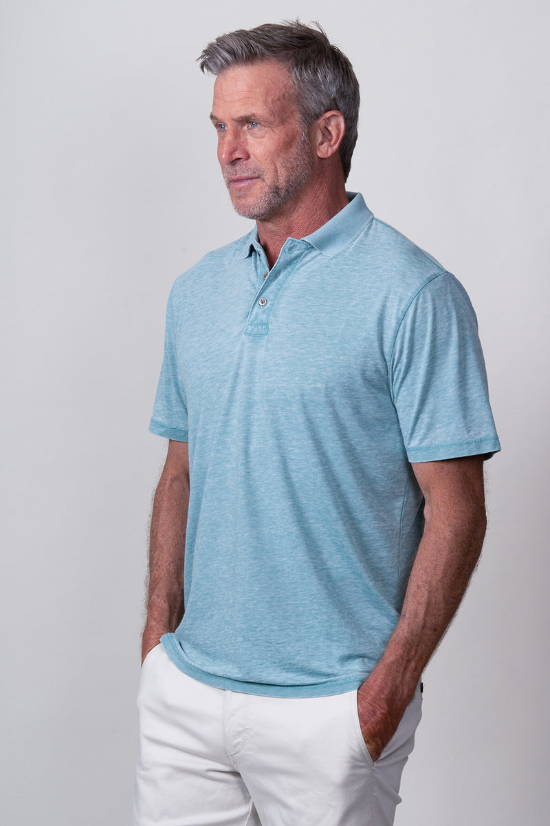 Bowery Burnout Short-Sleeve Polo
