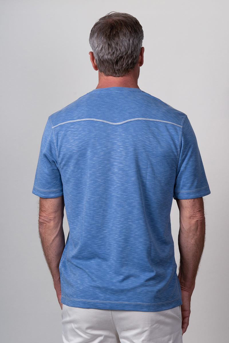Sueded Modal Short-Sleeve Crew