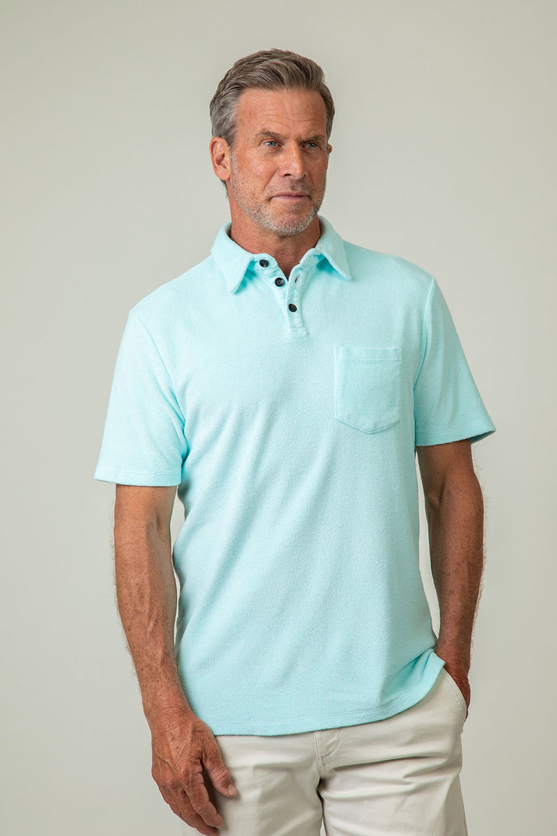 Softest Riptide Terry Short-Sleeve Polo