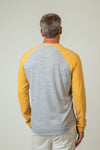 Melange Heather Slub Knit Vintage Raglan