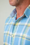 Bahama Plaid Long-Sleeve Two-Pocket Shirt