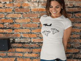 This white skydivers t-shirt is everything you have dreamed of and more. It feels soft and lightweight with the right amount of stretch. It is comfortable and flattering for both men and women and with an aircraft and two 'SEND IT' shaped as a skydivers print on the front. Available in several colours.