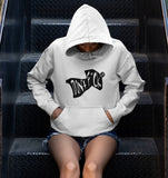 This white with black print hoodie is soft, smooth and stylish. It is the perfect choice for the cooler evenings, the early morning jump of when you want a bit extra. It has soft cotton faced fabric, double fabric hood with self colour drawstring and front pouch pocket. It comes in several different colours with different coloured prints.