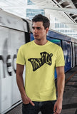 This yellow with black print unisex t-shirt is everything you have dreamed of and more. It feels soft and lightweight with the right amount of stretch. It is comfortable and flattering for both men and women and with 'Don't F*ck Up' shaped as a wingsuit print on the front. Available in several colours.