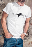 This unisex t-shirt in white  is everything you have dreamed of and more. It feels soft and lightweight with the right amount of stretch. It is comfortable and flattering for both men and women and with heartbeat with a wingsuit jumper print on the front. Available in several colours.