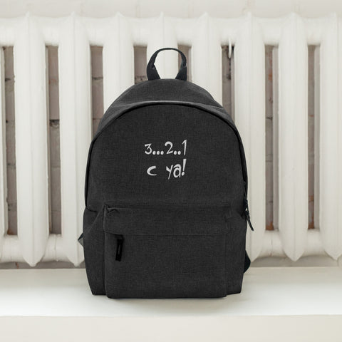 Embroidered Backpack 3-2-1 C YA!