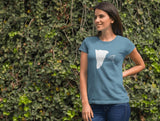 This indigo  basejumpers t-shirt is everything you have dreamed of and more. It feels soft and lightweight with the right amount of stretch. It is comfortable and flattering for both men and women and with a cliff and 'SEND IT' shaped as a basejumper print on the front. Available in several colours.