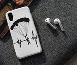 Premium Hard Phone Cases with heartbeat skydiver print