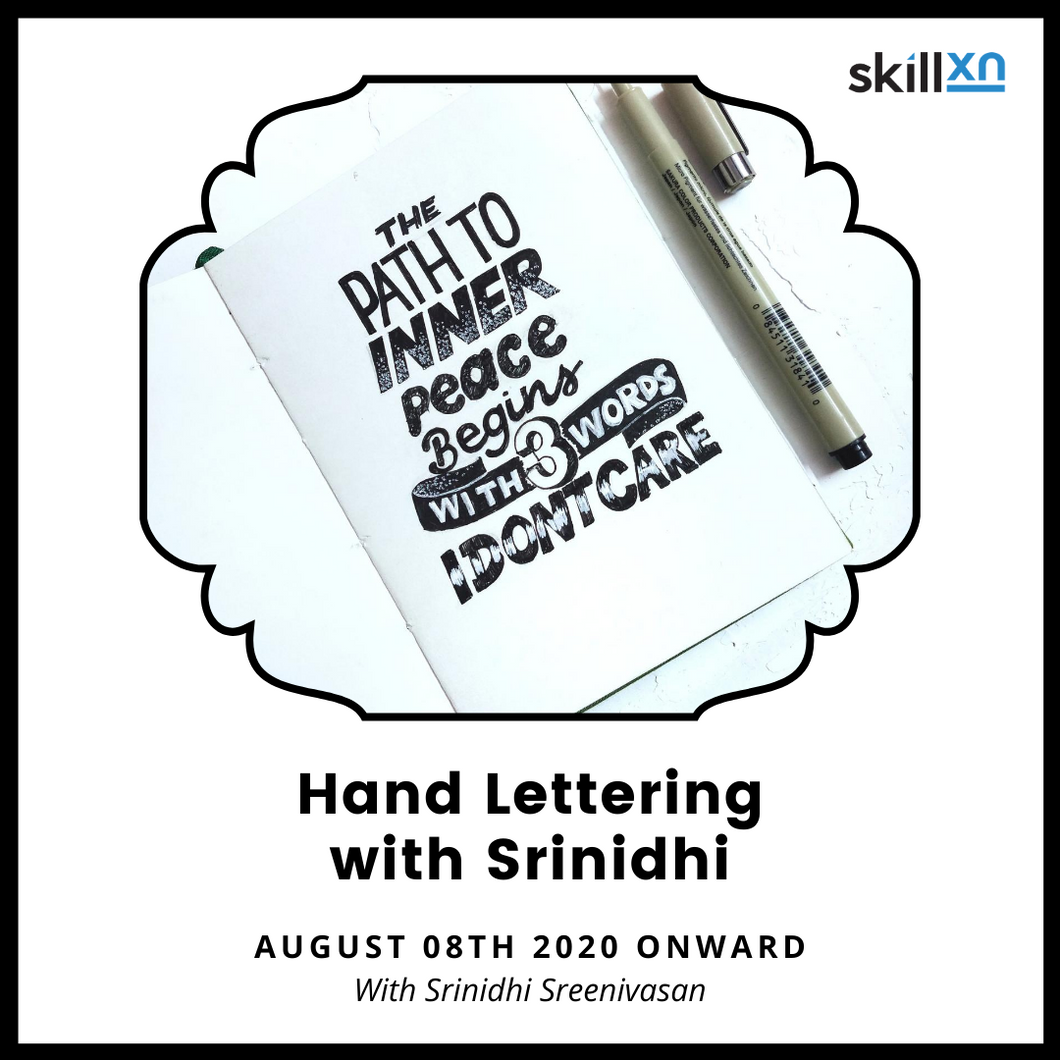 Hand lettering with Srinidhi - Skillxn