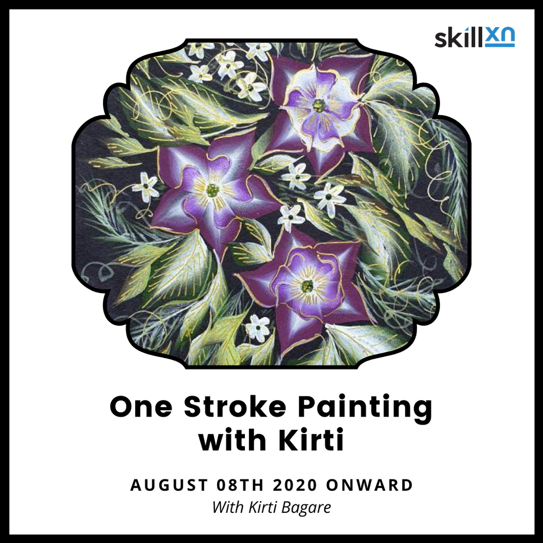 One Stroke Painting with Kirti