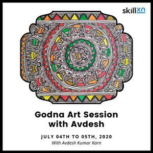 Godna Painting Session by Avdesh - Skillxn