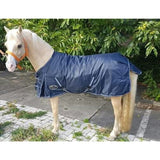 HB Harry and Hector Pony Outdoor deken, waterdichte regendeken Blauw Katoen