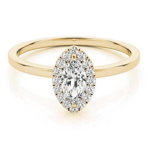 marquise 14k yellow gold lab-grown diamond ring