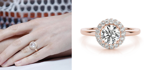 Allison brie celebrity lookalike engagement ring with lab grown diamond