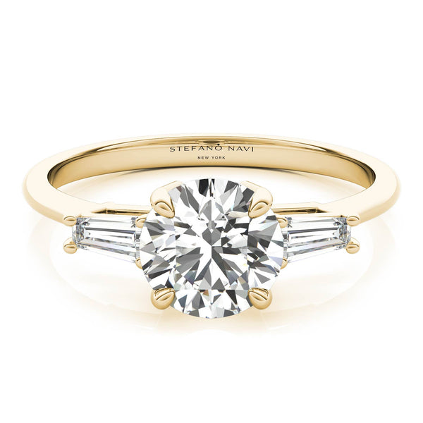 lab-grown diamond 3 stone tapered baguette ring