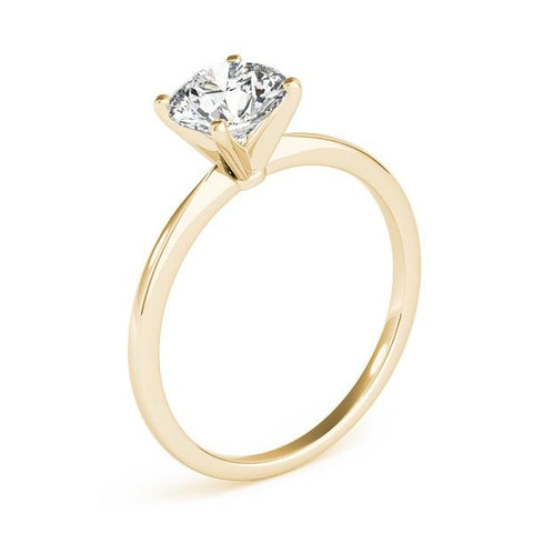 Solitaire Engagement Ring with Lab Grown Diamond in 14k yellow gold