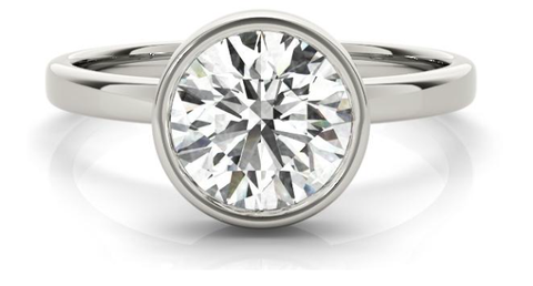 lab created diamond engagement ring in white gold