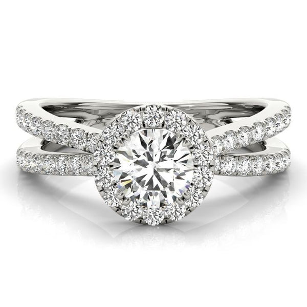 Marcelle engagement ring with lab grown diamonds
