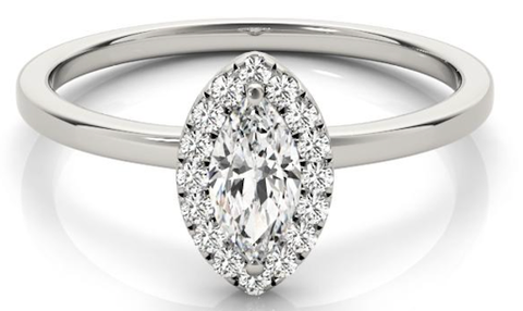 marquise cut lab grown diamond engagement ring
