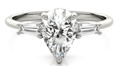 Lab grown Pear Engagement ring