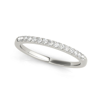 Lab-grown matching sustainable diamond wedding band in white gold