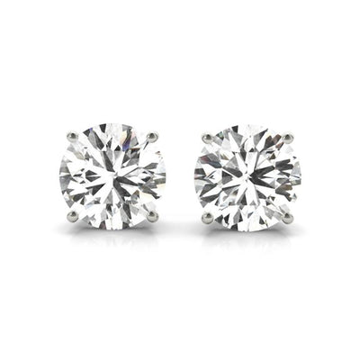 4 prong lab made diamond stud earrings