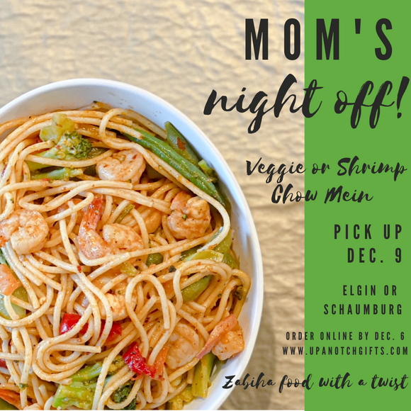 December 9 pick up: Veggie or Shrimp Chow Mein