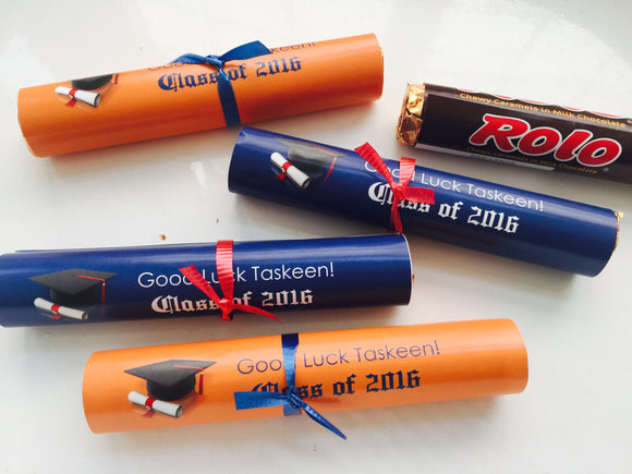 Graduation party diploma favors
