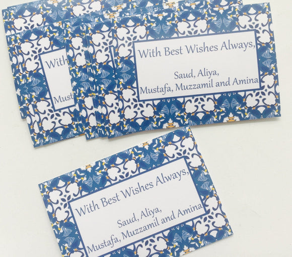 Personalized gift tags, custom Eid gift stickers,