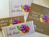 Burlap shabby chic shower favors