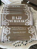 Burlap and lace bridal shower favors