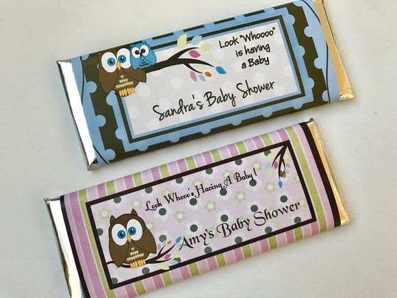 Owl baby shower favor, Look Whoos Having a Baby
