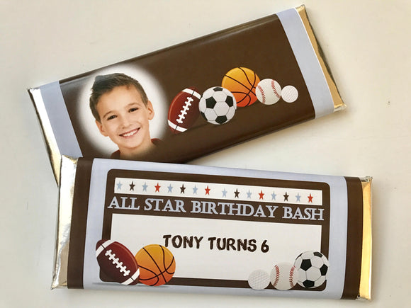 Sports birthday party favor