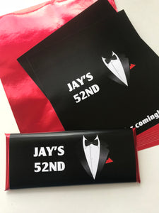 Mens 50th birthday tuxedo favors