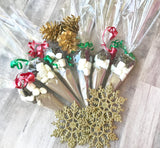 20 Hot chocolate cones, Christmas party favors, Unique holiday party favors, hot cocoa bar, hot chocolate kit, hot cocoa cone, holiday gift