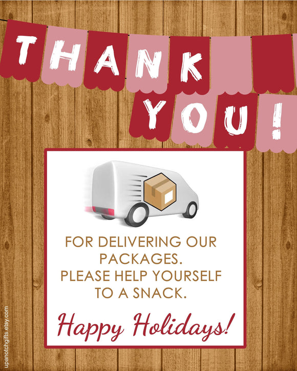 Digital File for Package Delivery Sign, Mail carrier thank you, mailman gifts, UPS driver gift, 8x10