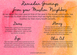 INSTANT DOWNLOAD: Sunnah foods neighbor basket card, Ramadan cards, Date jar labels, Ramadan gift, Ramadhan, Islamic gifts, Muslim gifts