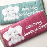 24 personalized elephant baby shower favors