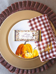 24 Thanksgiving Place Setting, Thanksgiving Party Favors, Thanksgiving Table Decor, Happy Thanksgiving Candy, Fall Party Favor, Autumn party