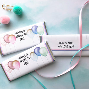 Personalized Gender Reveal party favors