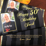 Personalized photo 50th birthday favors