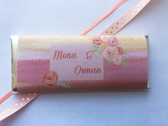 Peach floral candy wrappers