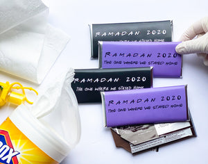 24 Friends Theme Quarantine Eid 2020 candy bar wrappers