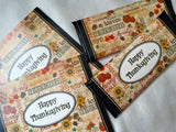 24 Thanksgiving Party Favors, Thanksgiving Place Setting, Thanksgiving Table Decor, Thanksgiving place cards, Thanksgiving Party, Fall Decor